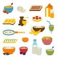 Healthy breakfast set vector image