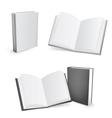 Blank books vector image