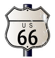 blank route 66 sign vector image