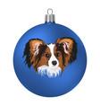 christmas ball with of the dog vector image