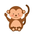 cute monkey animal isolated icon vector image