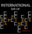 Day of Happiness- Commemorative Day March 20 card vector image
