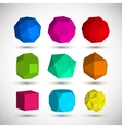 Geometric elements set vector image