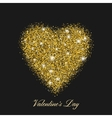 Heart shaped brilliant golden shine With shining vector image
