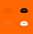 lipstick or lips icon vector image