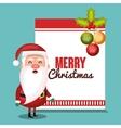 merry christmas card santa balls design vector image