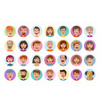 people icons set avatar profile diverse faces vector image