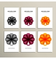 Set abstract color circle on white background vector image