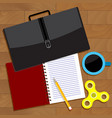 work business top view vector image
