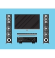 set of detailed home theater devices vector image