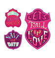 you and me together forever lets fall in love vector image