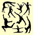 gymnastic sport silhouette vector image vector image