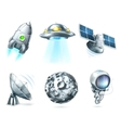 Space icon set on white vector image vector image