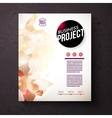 Business Identity Template with Abstract Design vector image