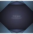 Dark blue corporate tech background vector image vector image