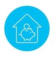House savings line icon vector image