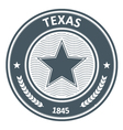 Texas emblem - round stamp with star vector image