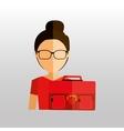 business woman design vector image