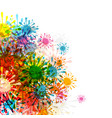 abstract background colorful splashes backdrop vector image