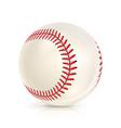 baseball leather ball isolated on white softball vector image