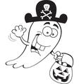 Cartoon Trick or Treat Ghost vector image