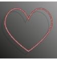 Frame Red Sequins Heart Glitter sparkle vector image
