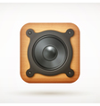 icon speaker vector image