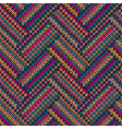 Multicolored Seamless Funny Knitted Pattern vector image
