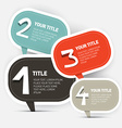 Paper Four Steps Infographics Layout vector image