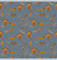 seamless dachshund dog pattern with paws and dog vector image