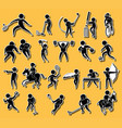 sticker set with sport icons vector image