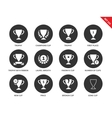 Trophy icons on white background vector image