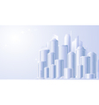 background with future city landscape vector image