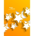 Background with orange stars vector image vector image
