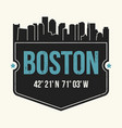 boston city graphic t-shirt design tee print vector image