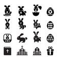 rabbit bunny easter icon vector image