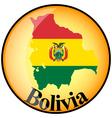 button Bolivia vector image vector image