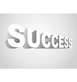 3D Success vector image