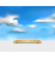 template with a realistic sky and clouds vector image vector image