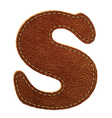 Leather textured letter S vector image vector image