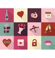 Valentines Day cards set Heart icons symbols vector image