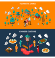 China Touristic Isometric Banners vector image