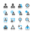 Human resource management icons reflection vector image
