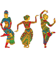 Indian dancers in the style of mehendi vector image