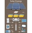 infographics production and processing solar vector image