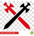 Medieval Swords Eps Icon vector image