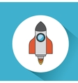 rocket launcher startup icon vector image