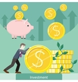 Investment Concept Flat Style vector image