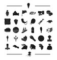 food travel england and other web icon in black vector image