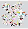 Paper Kites on Grey Background vector image vector image